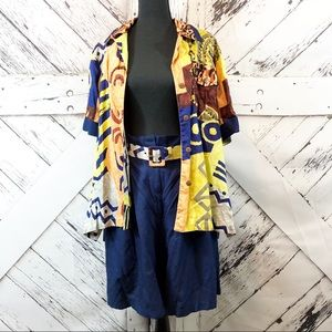 Vintage | 2 piece multicolor shirt/shorts